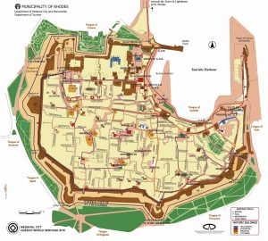 Map of Medieval Rhodes Town