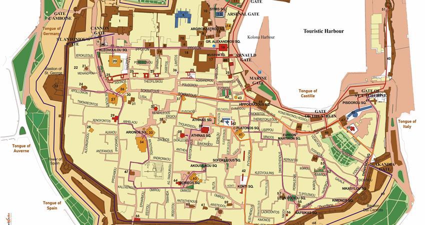 Rodos Ada Haritası